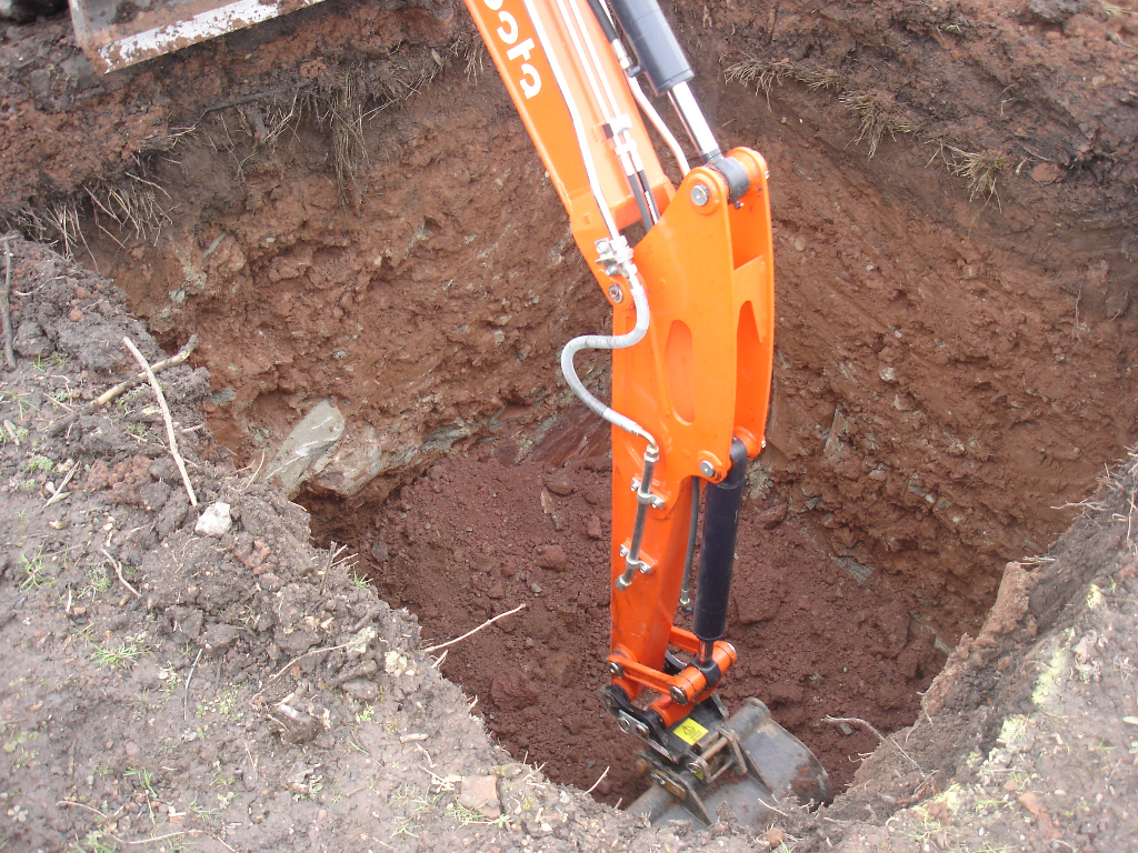 Excavation For Klargester Bio Disc And Footings For New
