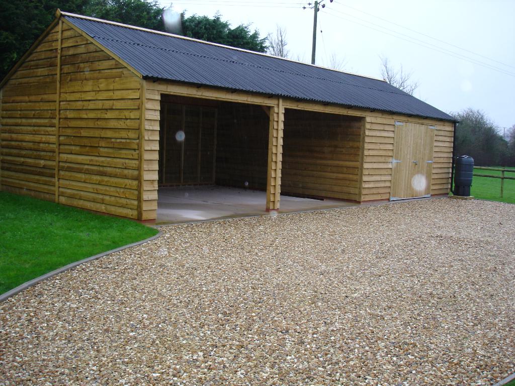 Timber framed garage base for Garage slabs