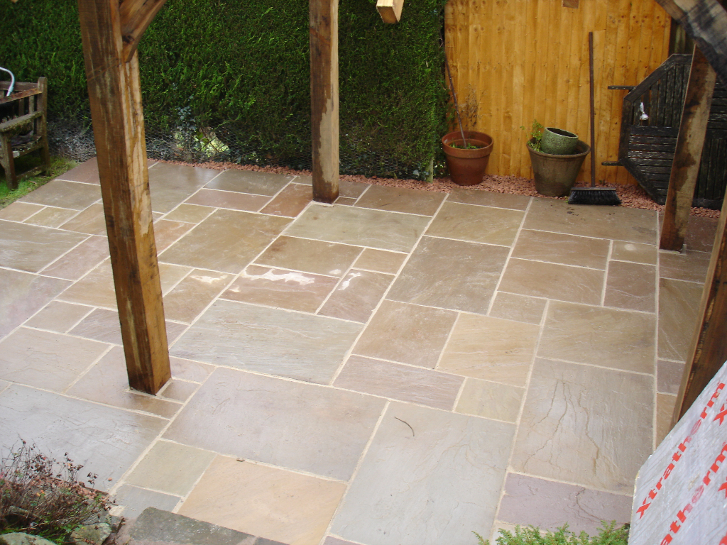 New Patio Pointed Using Resin Based Morter