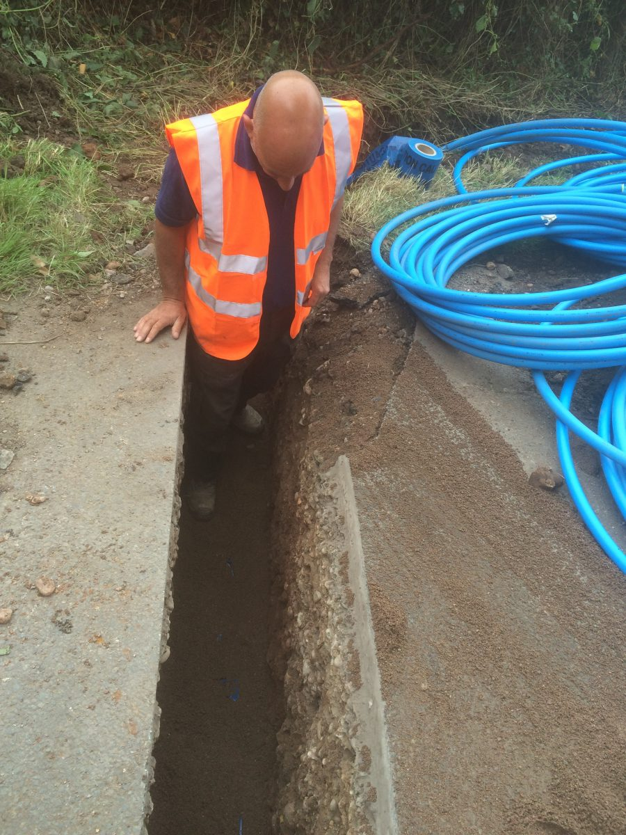 New Water Pipes And Sewer Pipe And Connection