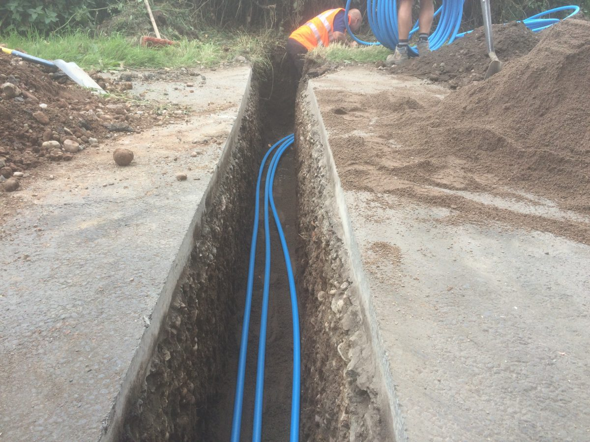 New water pipes and sewer pipe and connection for Water main pipe material