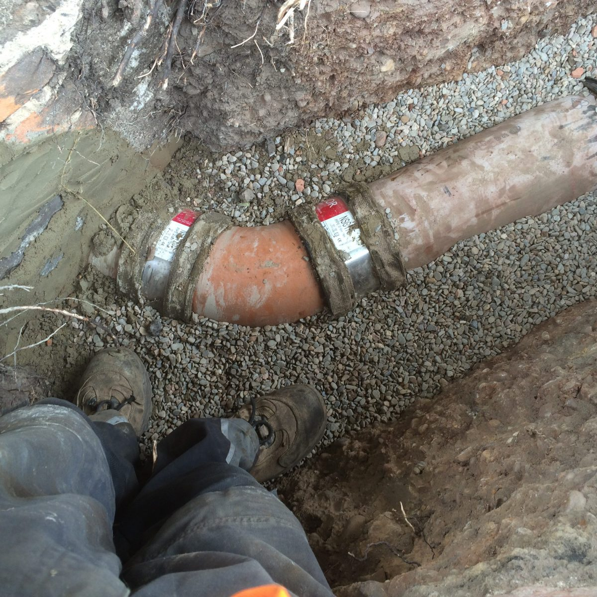 New water pipes and sewer pipe and connection for New water pipes