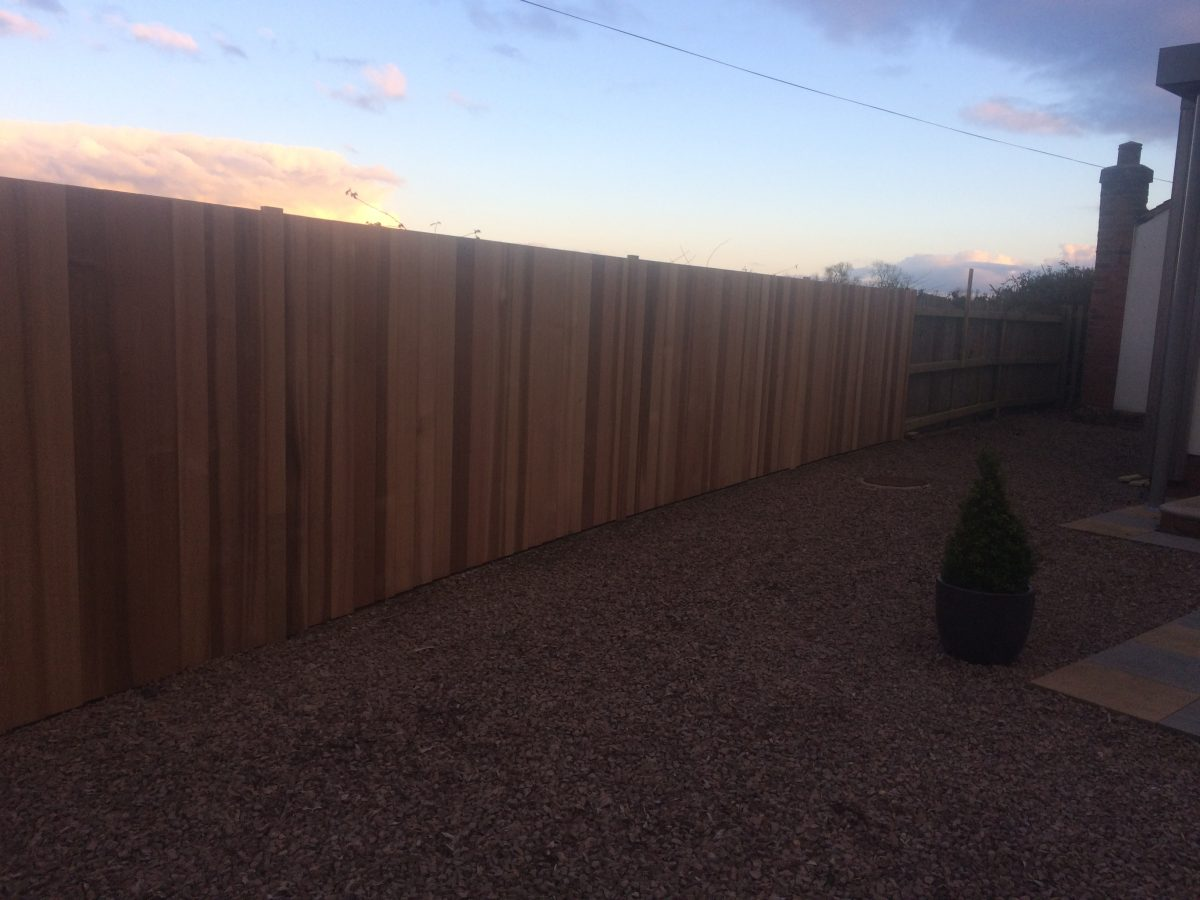 Old Fence Given A Cover Over Using Red Cedar Tongue And