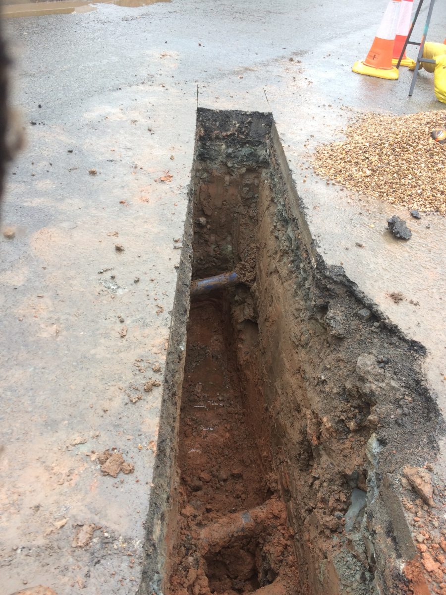 sewer connection to mains sewer in road  replacing shared