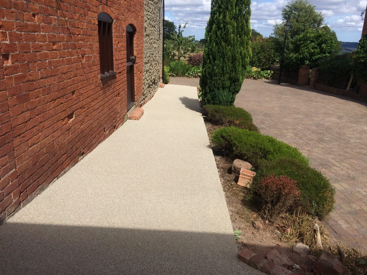 Resin Bond Path And Steps In Upper Sapey Worcestershire